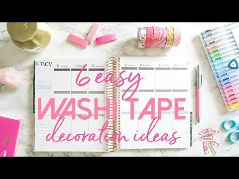 How to Use Washi Tape in Your Planner | Easy and Affordable Planner Deco...