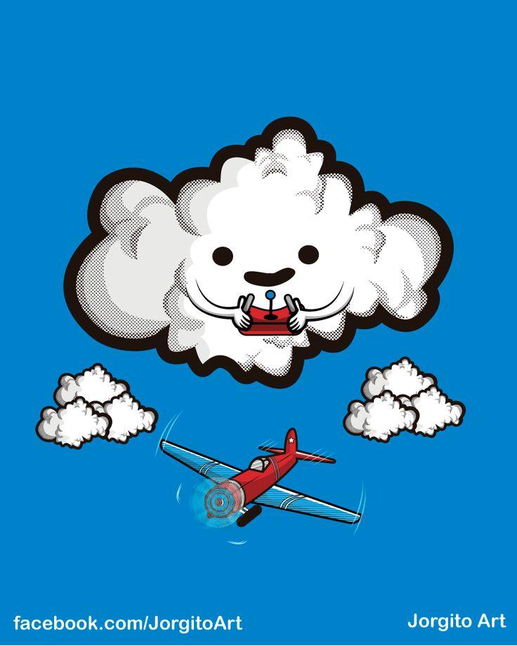Juego de nubes #Diseñosparacamisetas #facebook.com/Jorgitoart
