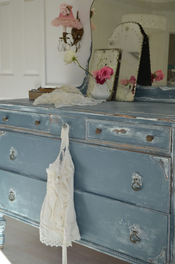 Shabby chic painted furniture - Distressing Inspiration For Furniture Painted With Color Shabby Chic