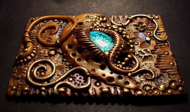 ACEO Dragon's Eye  by Christina A Kapono  Polymer Clay art gallery