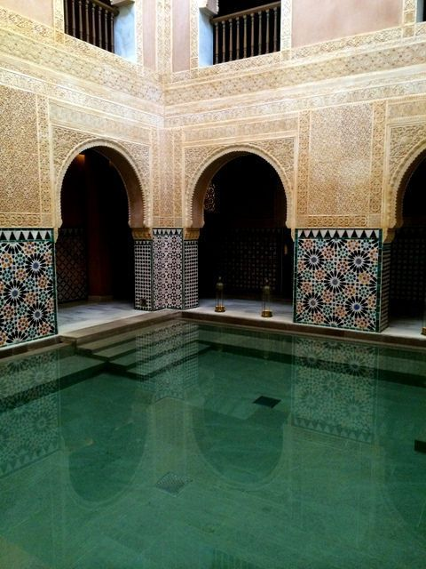 Relaxing in the Arab Baths of Hammam Al-Andalus
