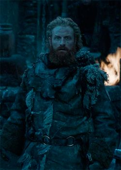 The first time he sees Brienne of Tarth...