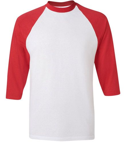 3 4 sleeve shirts baseball tee template an overview you 39 ve for Baseball shirt designs template