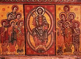 Esta foto es un pantocrator del arte medieval.