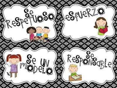 Free Classroom Expectation Posters Spanish/English