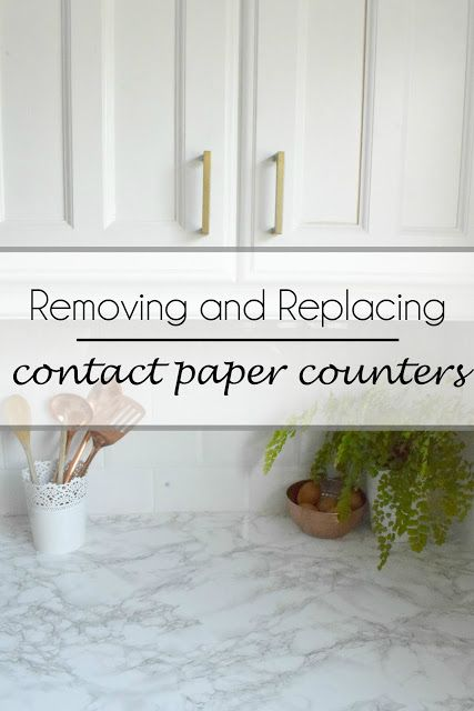 removing and replacing a contact paper countertop ~ Make Do and DIY