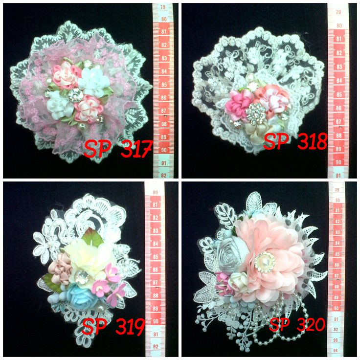 Beautiful Flower with Brokat (Brooch)  || Indonesian hand-made  ~~ Get it in cheap price!! Interested? Leave me a comment or contact my email: nikitantri@gmail.com