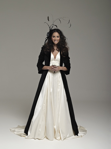 Dress by Arwen Garmentry, black coat by Biji Couture. Wedding Inspirations Winter 2012 (June)