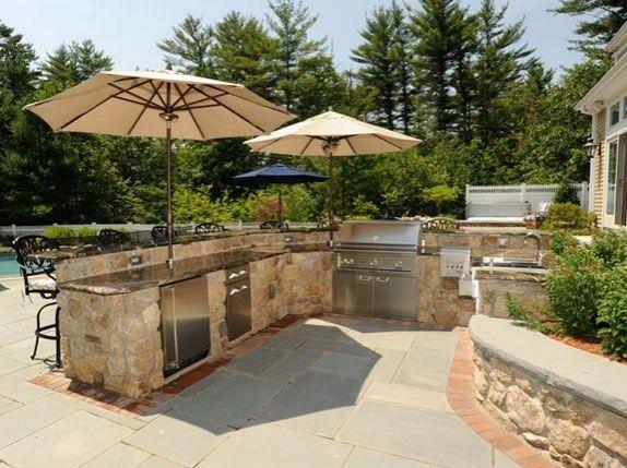 Outdoor Kitchen Umbrellas Outdoor Kitchen Nd Landscape Inc