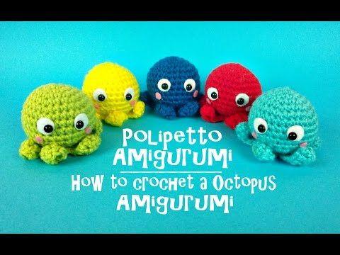 Polipetto portachiavi Amigurumi | How to cochet a little Octopus - YouTube