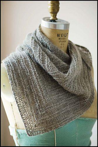 brooklyn tweed romney kerchief - maybe from Penny's Christmas yarn?
