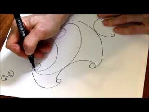 ▶ well -dot grid - randomised - freehand - YouTube Helen does a great job of demonstrating how to take a structured pattern and make it into a freehand one; something she always does so well.