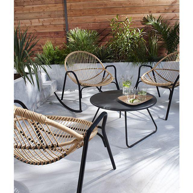 Rocking chair de jardin en métal Cuba - CASTORAMA ...
