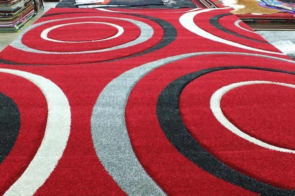 Bright Circle Design Modern Turkish Rug Size: 240 x 330cm