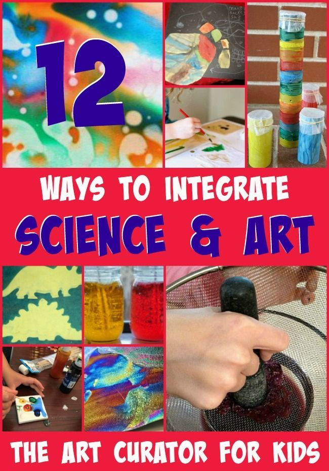 The Art Curator for Kids - 12 Ways to Integrate Art and Science - Science and Art Activities