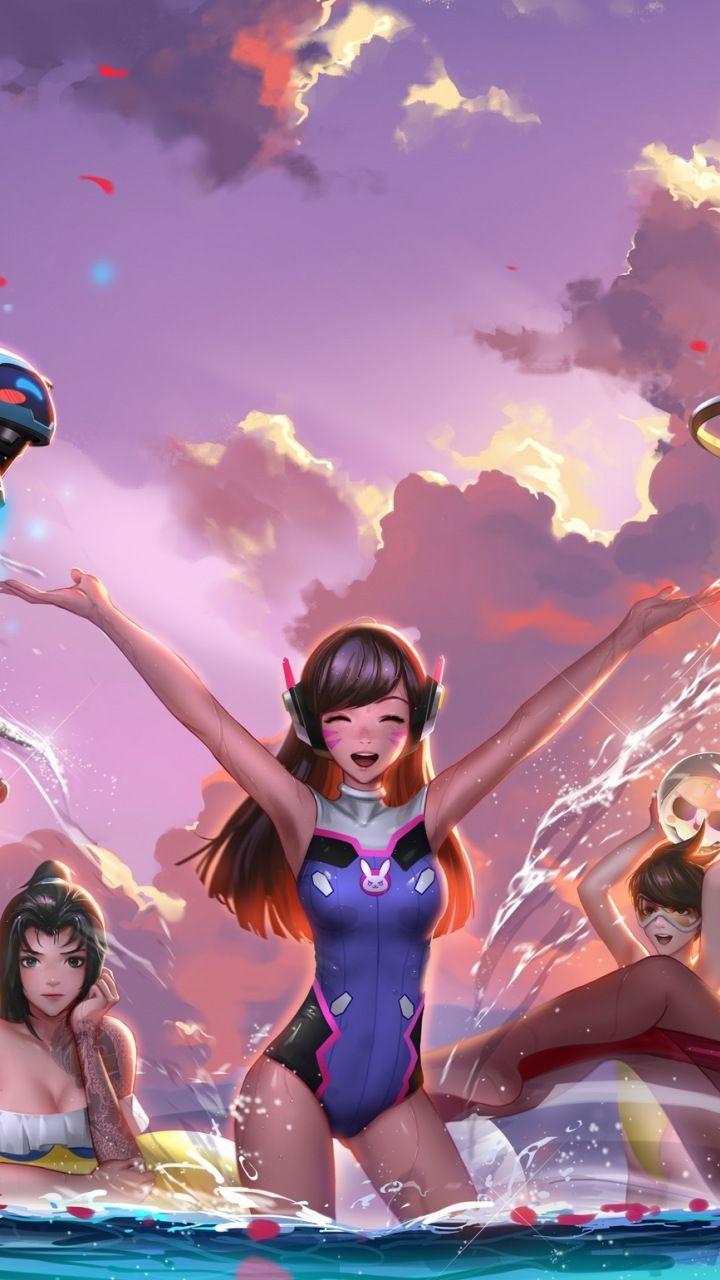 Overwatch, Girls, Dva, Mercy, Mei, Widowmaker, Fun -4679