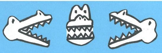 Alligaattori opettaa pienempi kuin, yhtä suuri, suurempi kuin... Syön suuremman!