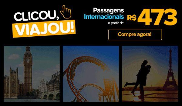 Promoção ViajaNet , Viaje! Até 62% econ. em voos INTERNACIONAIS!