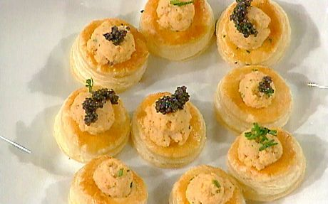 Lobster mousse puff pastry bouchees Recipe by Marc Summers