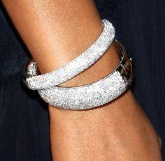 Taraji P. Henson diamond bracelets
