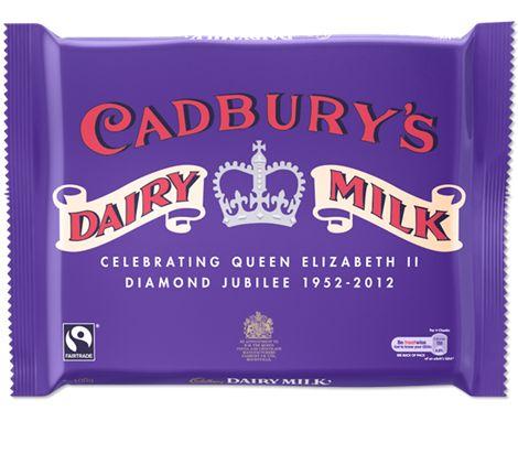 Cadbury's limited edition jubilee dairy milk bar in 1950's vintage packaging