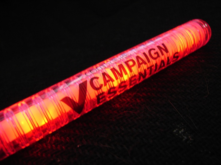 Custom LED Lightsticks.  Prices as low as $1.05 each (for 1000 or more).  Turn time is 3-4 weeks.