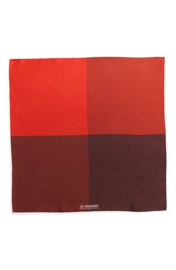 $39, J.Z. Richards Silk Pocket Square Red One Size. Sold by Nordstrom. Click for more info: https://lookastic.com/men/shop_items/202623/redirect