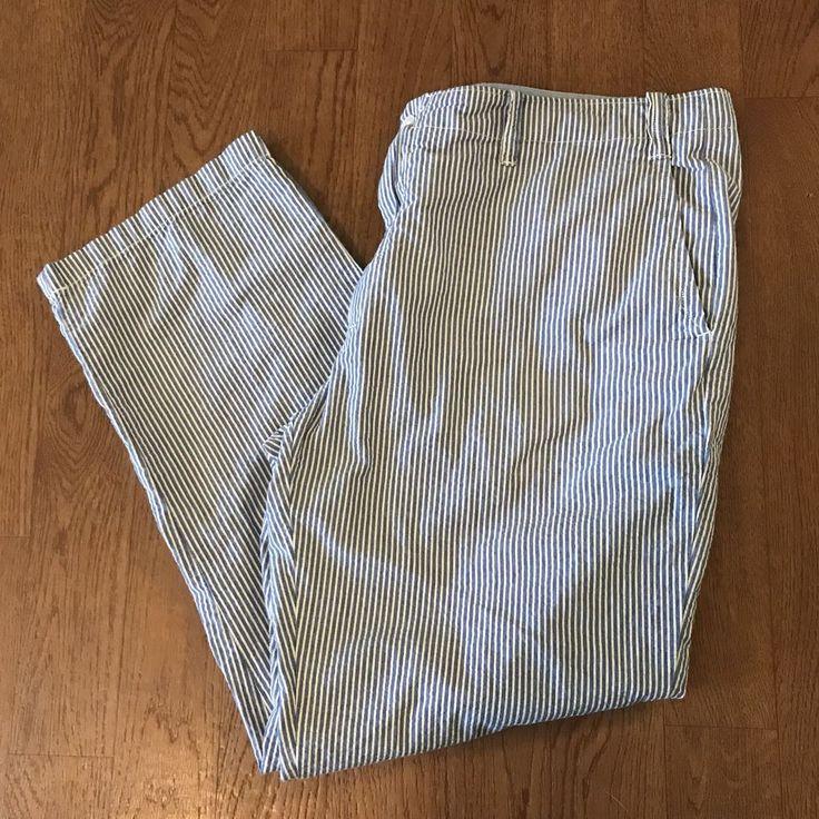 Polo Ralph Lauren Naval Tailors Classic Fit Blue White Seersucker Pants 42/30 #PoloRalphLauren #ClassicFit