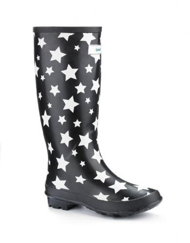 Miss Starry Eyed Wide Fit Wellies - Funky & Wide Calf Wellies Specialist   Jileon