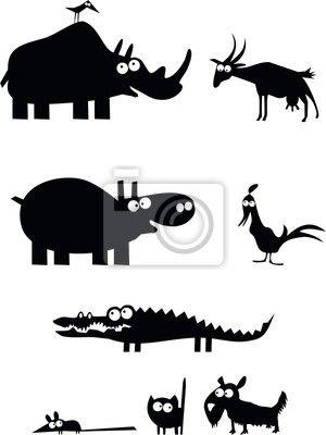 Sagome di animali • Fotomurale, quadro, poster, adesivo • selvatiche • PIXERS.it