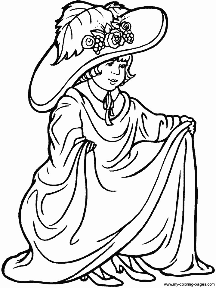 Fancy Dress Coloring Pages Coloring Coloring Coloring Pages