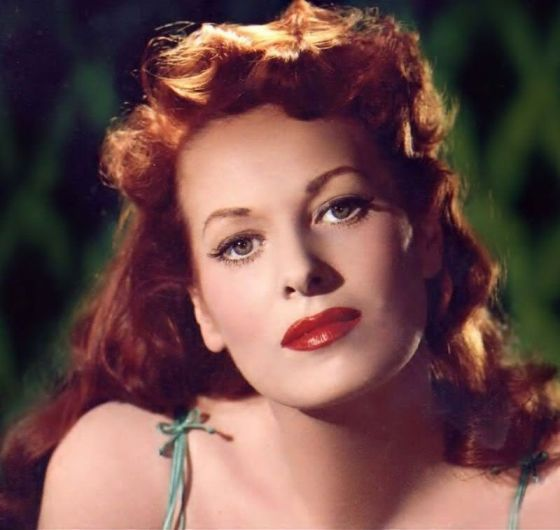 Maureen O'Hara, 1940's. (1920-living). Irish film actress and singer. The famously red-headed O'Hara has been noted for playing fiercely passionate heroines with a highly sensible attitude. She often worked with director John Ford and long-time friend John Wayne. Maureen loved playing rough athletic games as a child and excelled in sports. She combined this interest with an equally natural gift for performing. (Source: Wikipedia and IMDb)