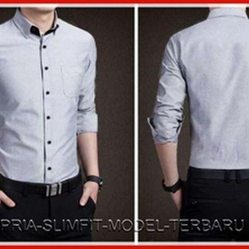 Model26smf gaya kemeja pria sonaz elegan Baju Murah