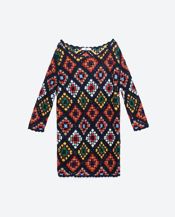 Image 8 of MINI CROCHET DRESS from Zara