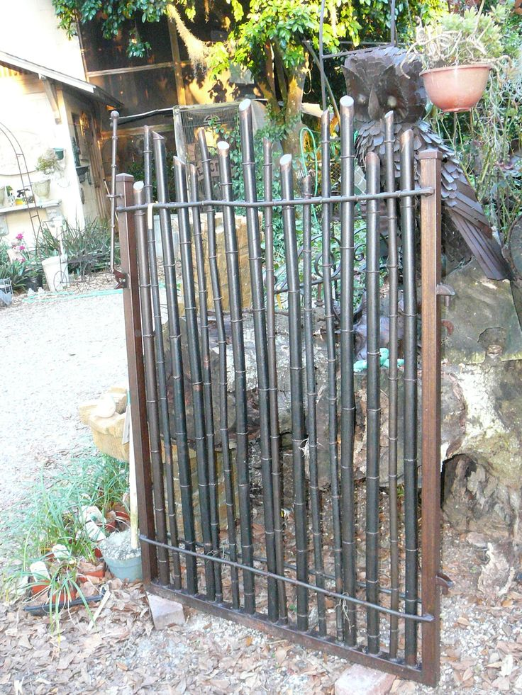 Using Wrought Iron Chandeliers: Bamboo Garden Gate