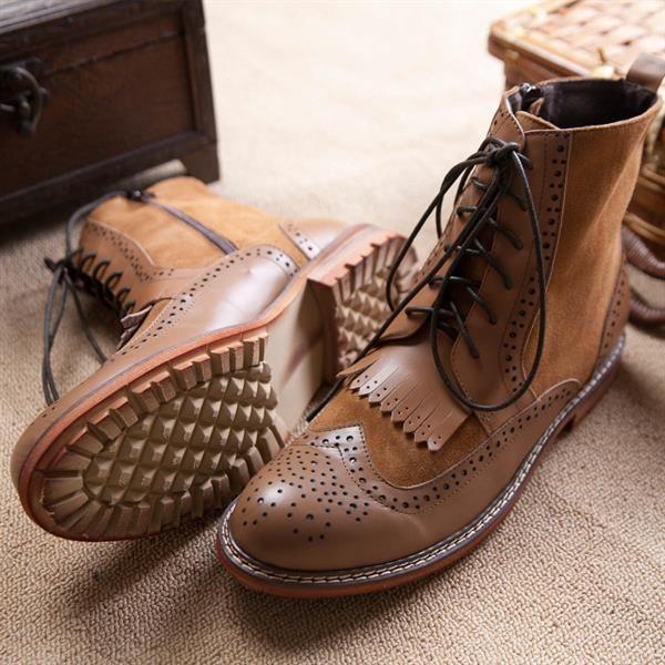 Мужские кожаные ботинки из сша