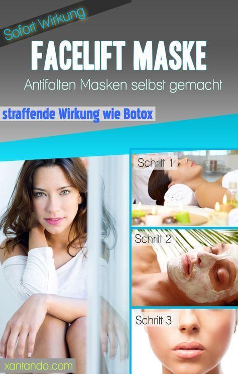 straffende Antifalten Maske selbst gemacht, Facelift Effekt, junge gesunde Haut, mit Botox Wirkung, sofort spürbar