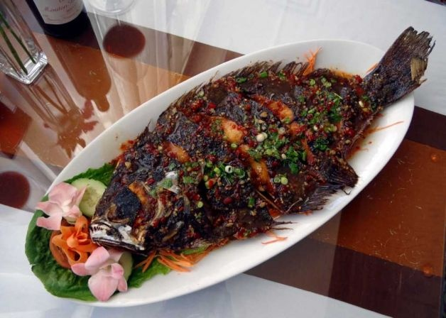 This is a dish you will find at the new Black Fly Restaurant...Whole Fried Fish!