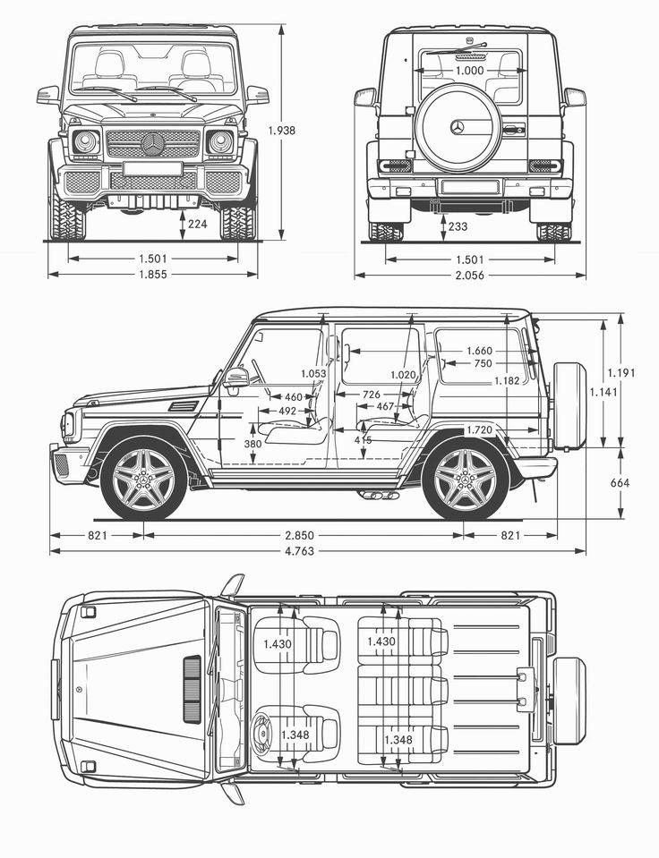 Mercedes Benz G Class 65 Amg Blueprint Автосхемы