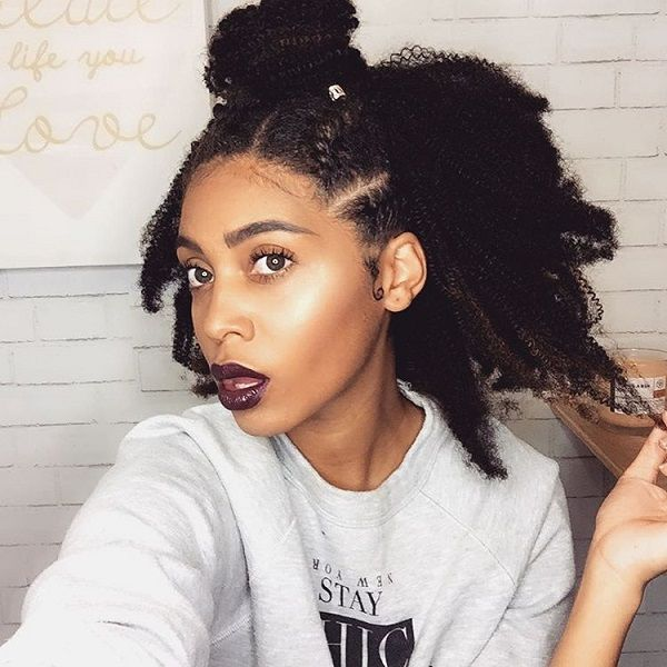 469 best natural hair extensions images on pinterest hair top knot kinky 4c protective style for fall winter pmusecretfo Choice Image