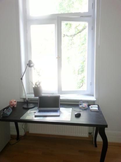 Schöner, heller Platz fürs Homeoffice in Frankfurter WG #WG #Frankfurt #Homeoffice