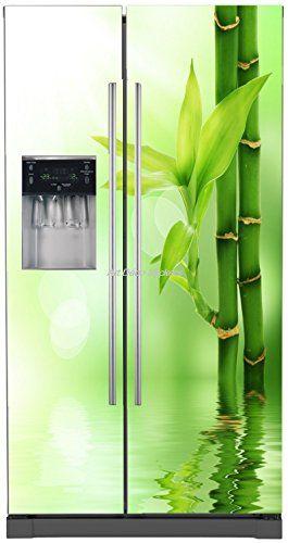 Stickersnews - Sticker frigo américain électroménager déco Bambous Dimensions - 100x180cm, Déclinaisons: - Fond Blanc StickersNews http://www.amazon.fr/dp/B00PMHFH9K/ref=cm_sw_r_pi_dp_IOAWvb1CG47EV