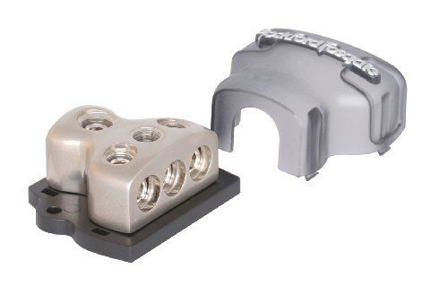 Rockford Fosgate RFD4 1/0 AWG 4 AWG Distribution Block - Platinum by Rockford Fosgate. Save 20 Off!. $18.33. Rockford Fosgate Connecting Punch Distribution Block, platinum finish. (1) 1/0 AWG /4 AWG inputs and (3) 4 AWG/8 AWG outputs. All brass parts are manufactured using the highest quality standards. This ensures that your accessories deliver total performance. All kits include the appropriate wire termination hardware. Visit www.RockfordFosgate 24 hours a day for technical sup...