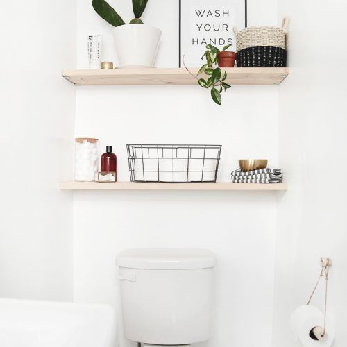 items on wood bathroom shelves above toilet   – Sarah's house – #bathroom #Hou…   – most beautiful shelves