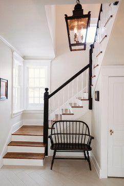 Black & White Entryway - farmhouse - Staircase - Chicago - Kara O'Connor Interiors