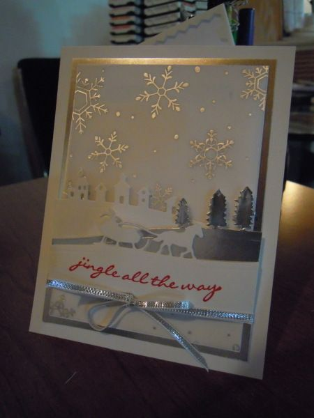 Stampin' Up! Jingle all the way, sleigh ride edgelits,