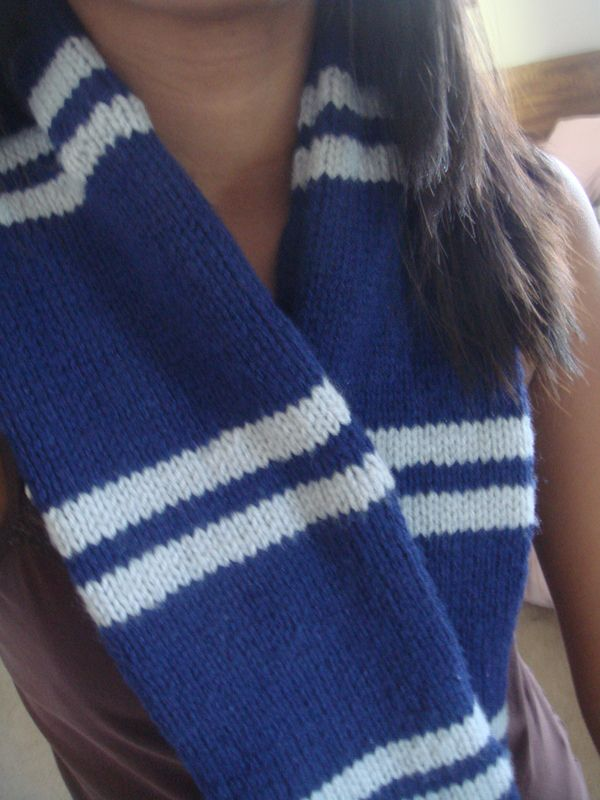 Harry Potter Ravenclaw Scarf. -- in case I take up knitting.  hahaha