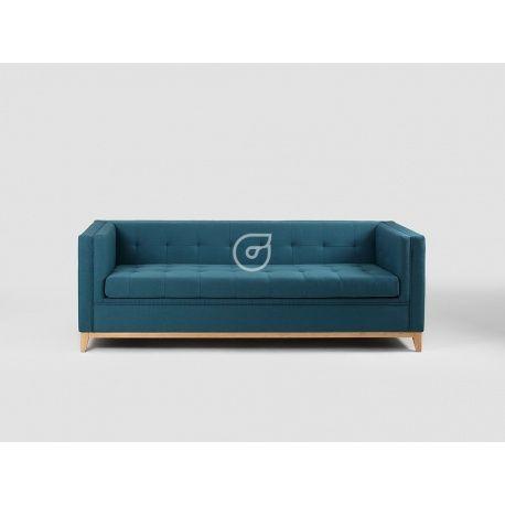 Sofa by-TOM - 3os. rozkł., morskie fale, naturalny