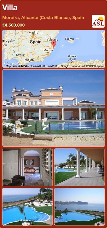 Villa in Moraira, Alicante (Costa Blanca), Spain ►€4,500,000 #PropertyForSaleInSpain