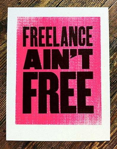Freelance Aint Free - Mikey Burton / Designy Illustration